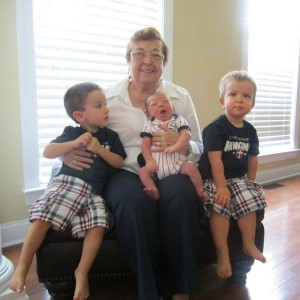 Mom with her grandsons